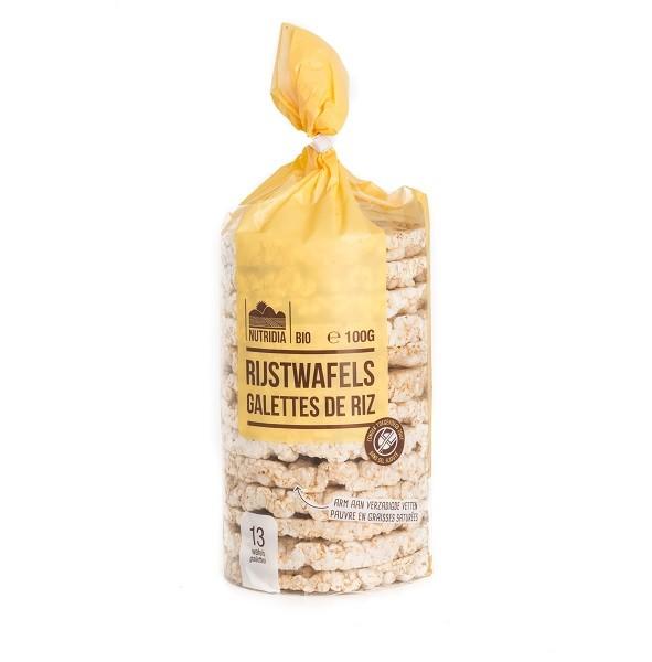 Rijstwafels glutenvrij BIO 100gr. Nutridia