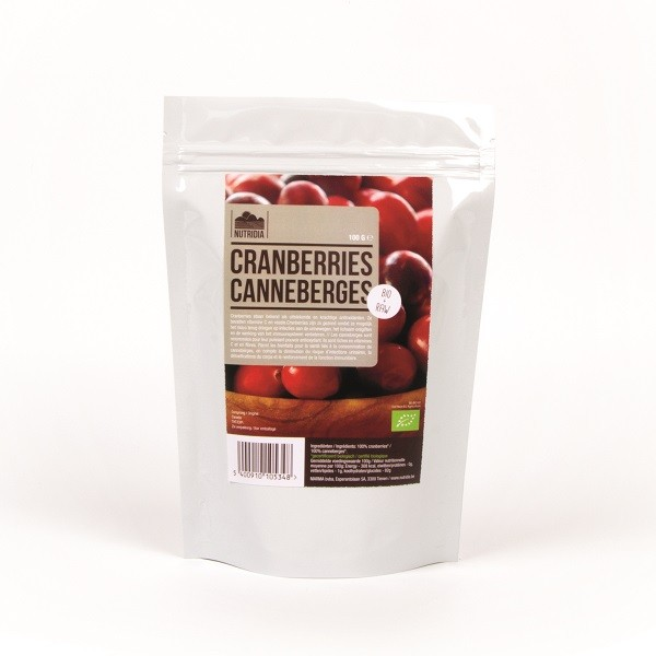 Cranberries BIO & raw 100gr Nutridia
