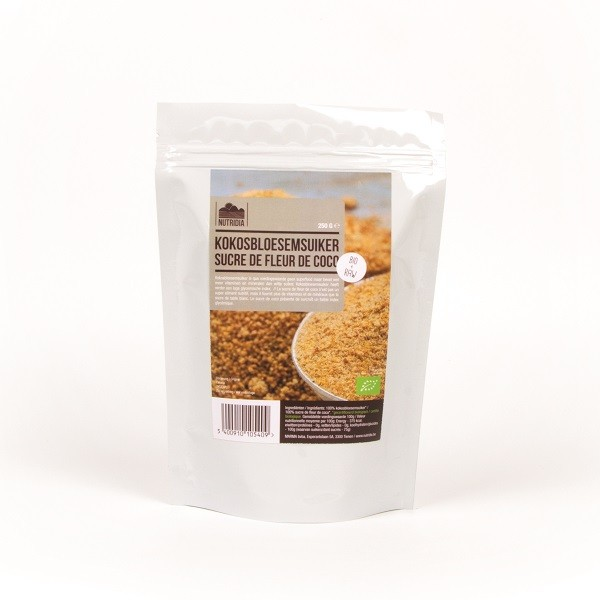 Kokosbloesemsuiker bio & raw 250gr. Nutridia