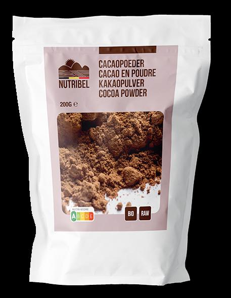 Cacaopoeder BIO & RAW 200gr. Nutribel
