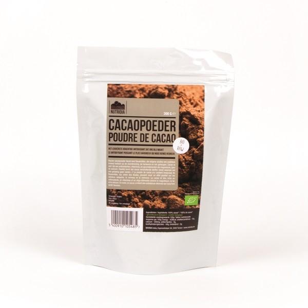 Cacaopoeder BIO & RAW 200gr. Nutridia