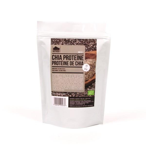 Chia proteine poeder BIO & RAW 200gr. Nutridia
