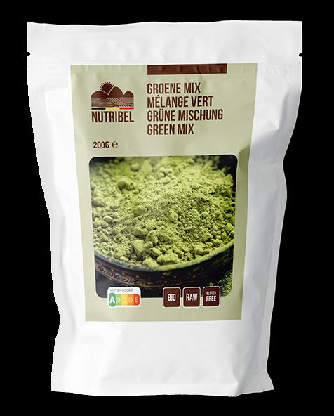 Nutribel Groene mix bio & raw 200gr. online Natuurgroothandel