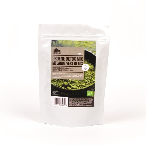 Green detox mix poeder BIO & RAW 200gr. Nutridia