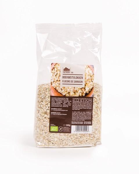 Boekweitvlokken glutenvrij BIO 500gr. Nutridia