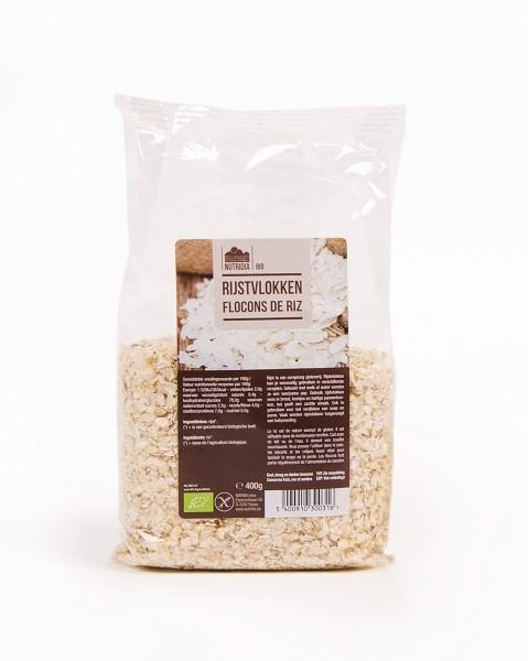 Rijstvlokken glutenvrij BIO 400gr. Nutridia