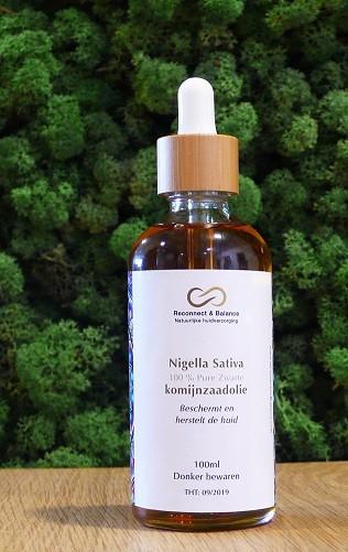 Komijnzaadolie zwart Nigella Sativa 100ml. Reconnect & Balance Nigella