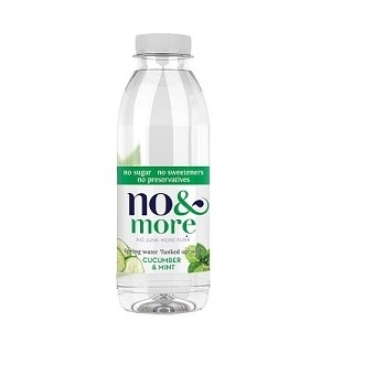 Komkommer & mint bronwater 1ltr. No & More