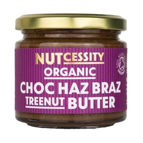 Notenboter ORGANIC chocolade haz braz pot 180gr. Nutcessity