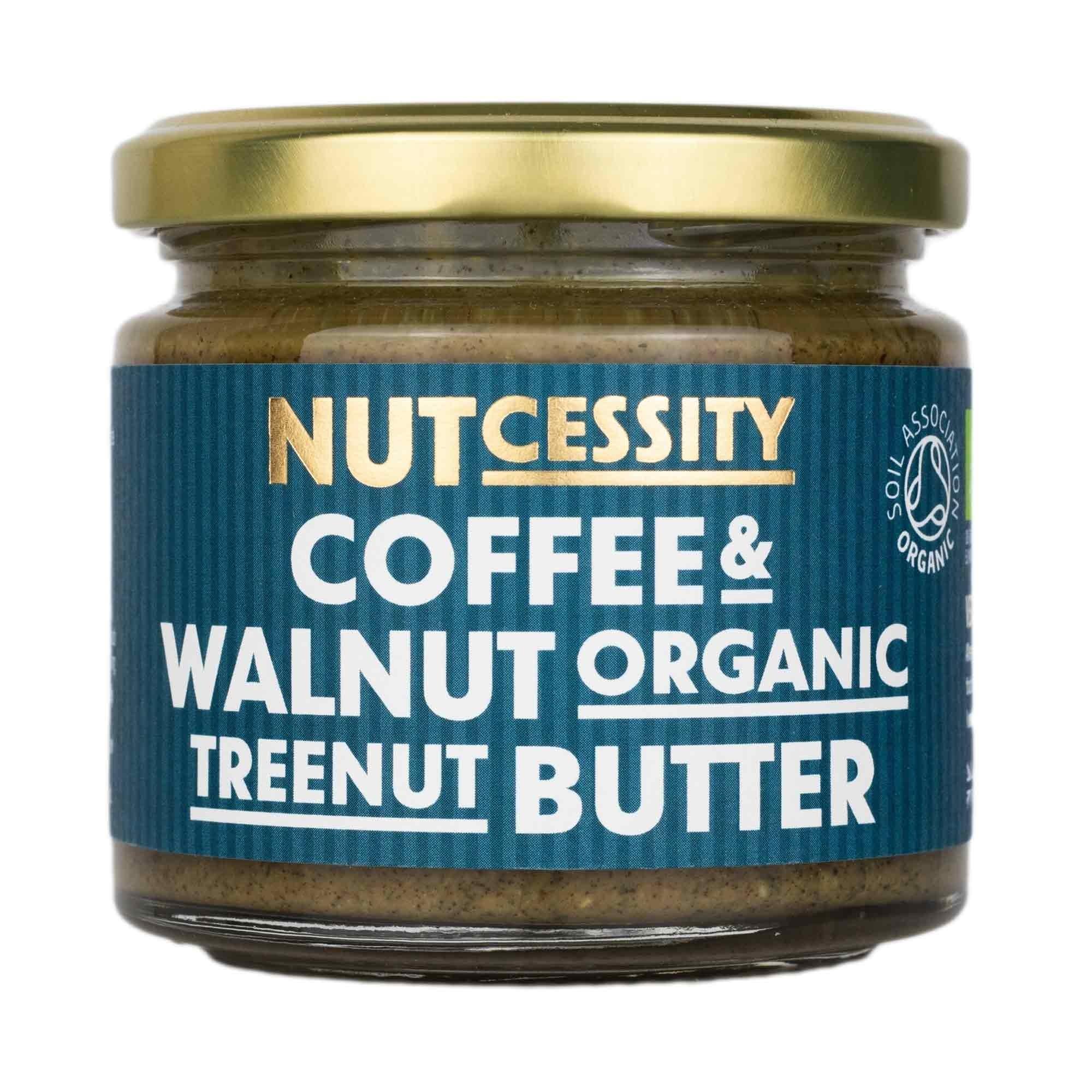 Notenboter ORGANIC koffie en walnoten pot 180gr. Nutcessity