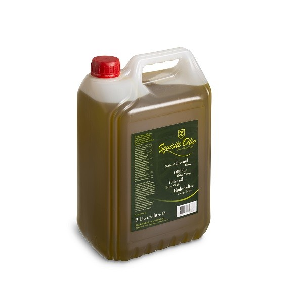 Olijfolie extra vierge jerrycan 5ltr. Squisito