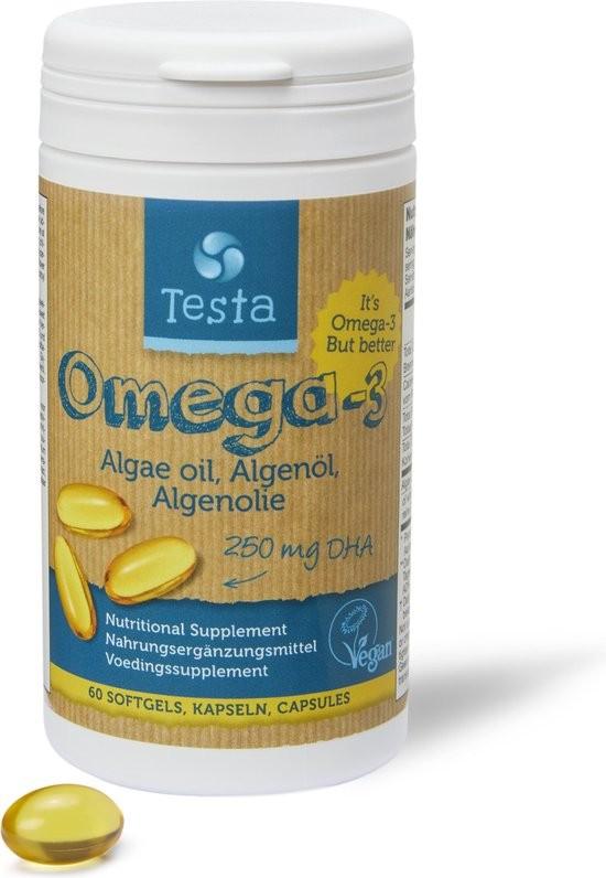 Testa Omega-3 DHA puur 250mg(60 capsules)