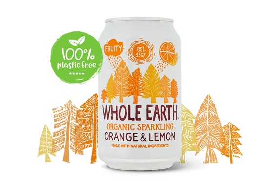 Orange & lemon frisdrank BIO 330ml. Whole Earth