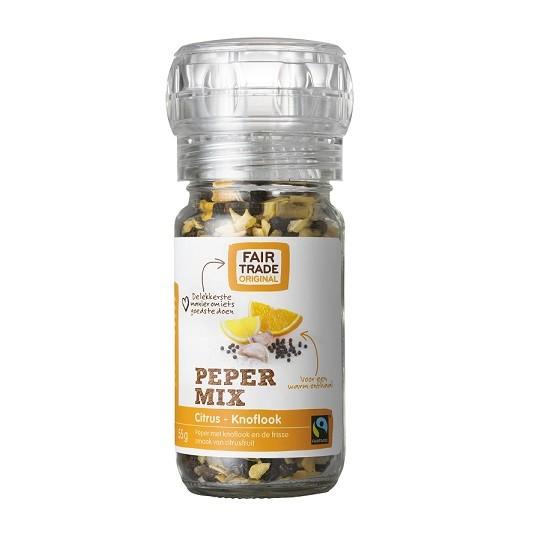 Fairtrade molen pepermix citrus knoflook 55 gram