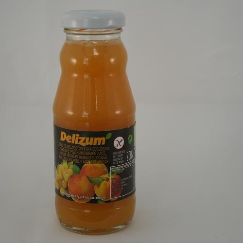 Perzik & witte druivensap BIO 200ml. Delizum