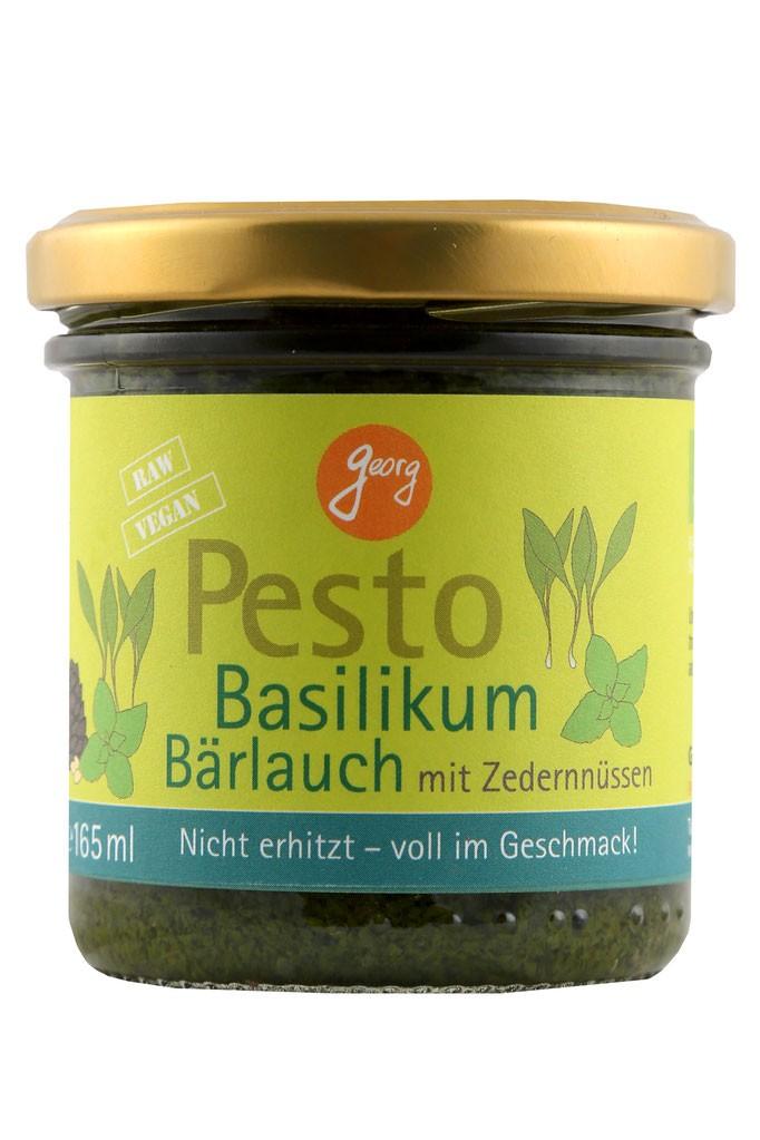 Pesto basilicum-daslook-cedernoten BIO 165ml. Georg Thalhammer