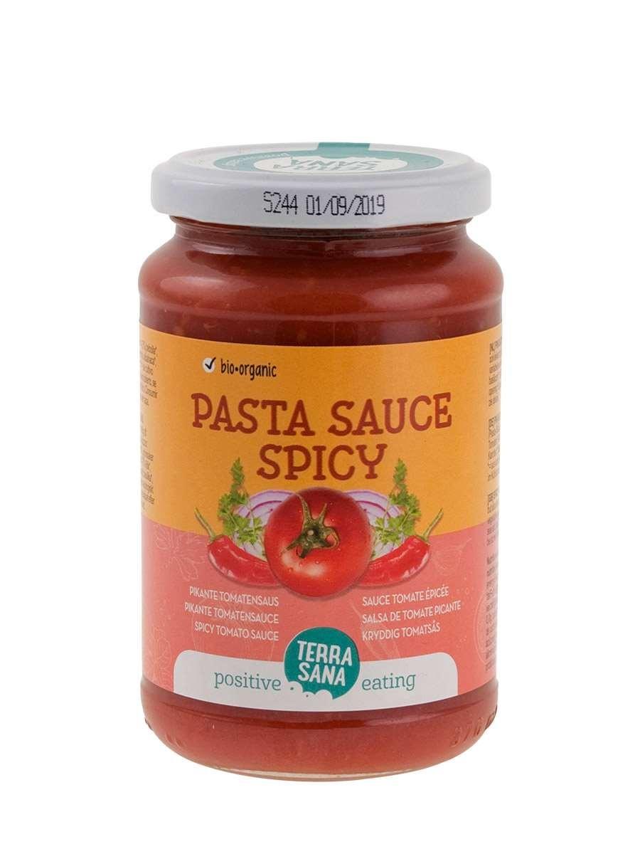 Saus Pastasaus spicy 340gr. TerraSana