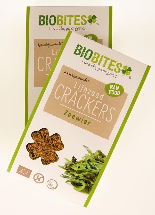 Crackers lijnzaad zeewier pocket BIO 2 stuks 30gr. Biobites
