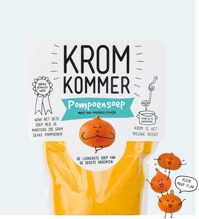 Pompoensoep 570ml. Kromkommer