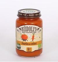 Groentehapje pompoen en wortel 6+ maanden BIO 190 gr. Rudolfs