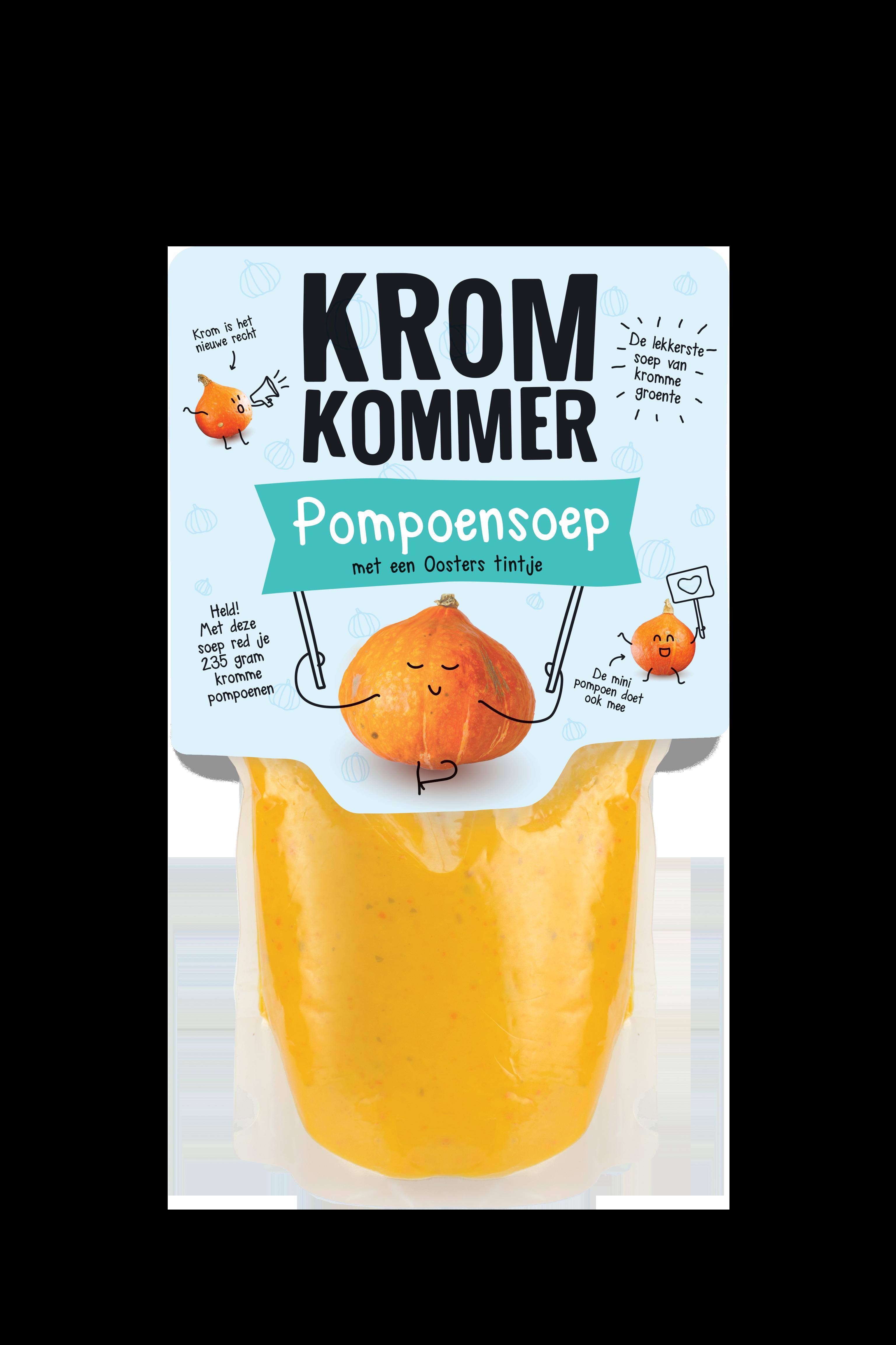 pompoensoep kromkommer