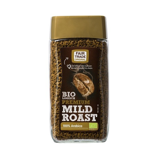 Fairtrade instant koffie mild roast BIO