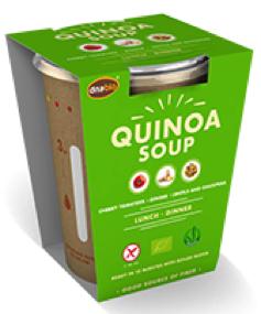 Quinoa soep instant maaltijd 65gr. Natuurgroothandel