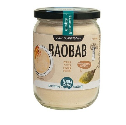 Baobabpoeder RAW superfood glazen pot BIO 190gr. TerraSana