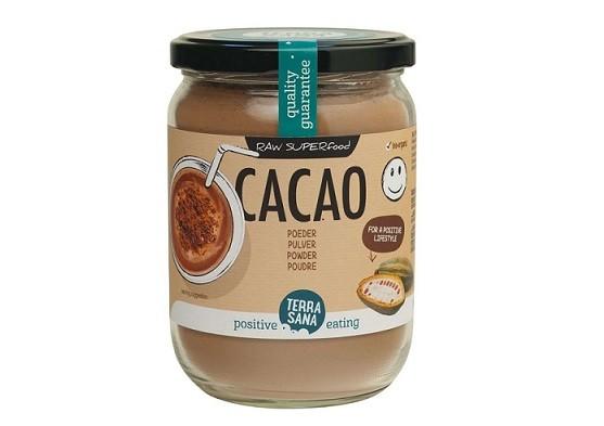 TerraSana RAW cacaopoeder (in glas) 160 gram
