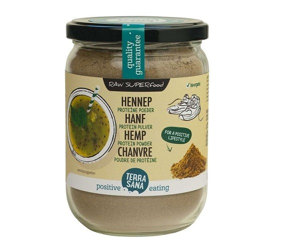 TerraSana RAW Hennep proteïne poeder (in glas) 200 gram