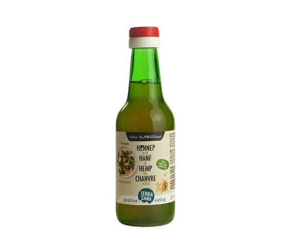 TerraSana RAW hennep olie koudgeperst 250 ml
