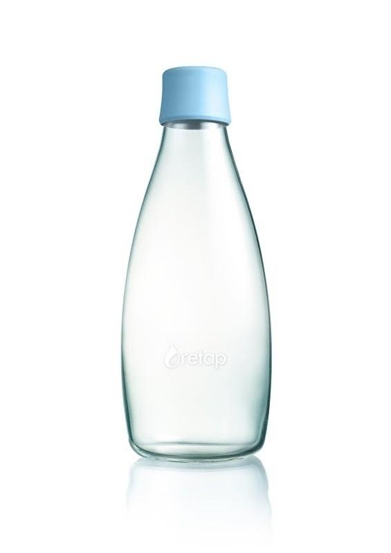 Waterfles glas 0.8ltr. Retap zonder dop