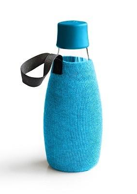 Beschermhoes voor waterfles licht blauw 0.5ltr. Retap