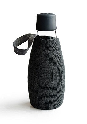 Beschermhoes voor waterfles zwart 0.5ltr. Retap