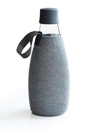 Beschermhoes voor waterfles grijs 0.8ltr. Retap