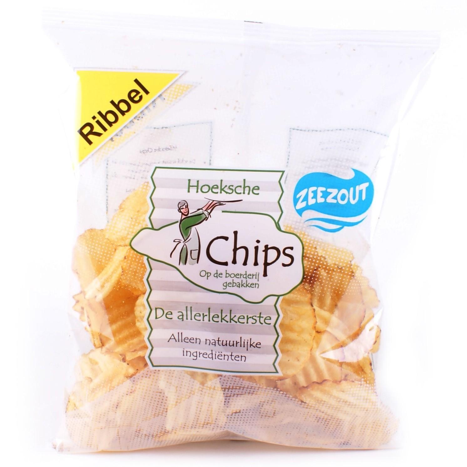 Chips ribbel zak 150gr. Heerlijke chips, zo van 't land! Hoeksche
