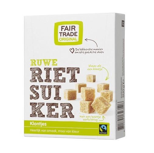 Fairtrade rietsuiker klontjes 500 gram