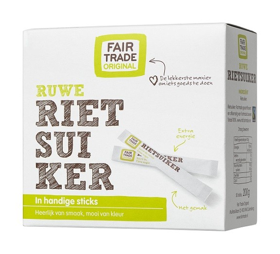 Fairtrade rietsuikersticks 50x4 gr