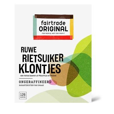 Fairtrade rietsuiker klontjes 500 gr