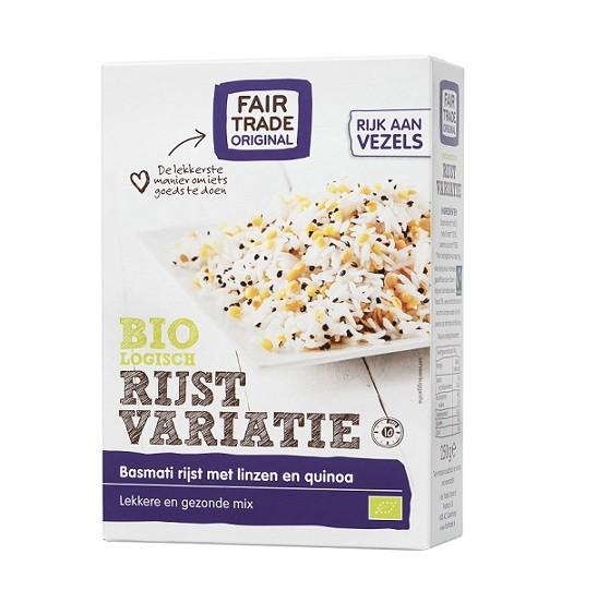 Fairtrade rijstvariatie basmati BIO400 gr