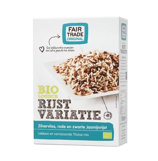 Fairtrade rijstvariatie jasmijn BIO 400 gr