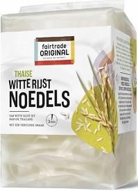 Rijstnoedels witte rijst 225gr. Fairtrade