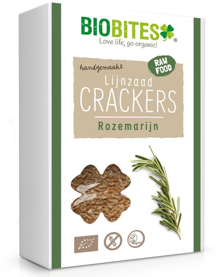 Crackers lijnzaad Rozemarijn BIO 4 stuks 65gr. Biobites