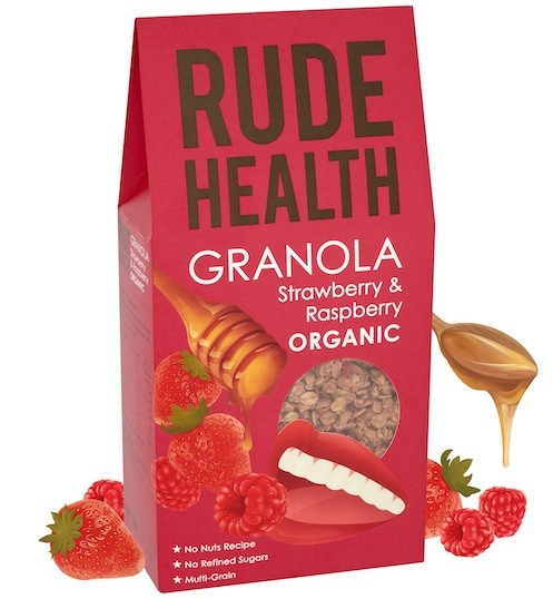Strawberry & Raspberry Granola BIO 450gr. Rude Health