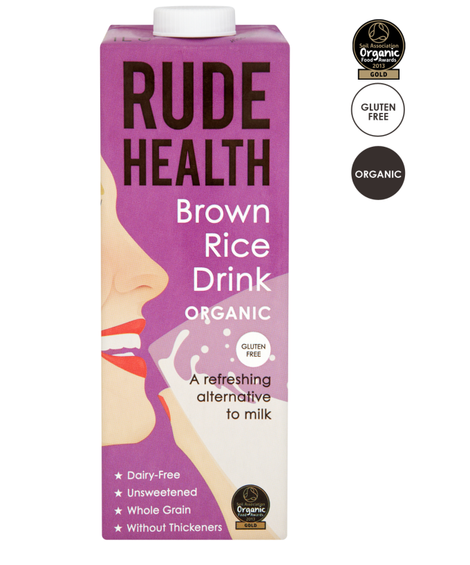Bruine Rijstdrink / Brown Rice Drink BIO 1ltr. Rude Health