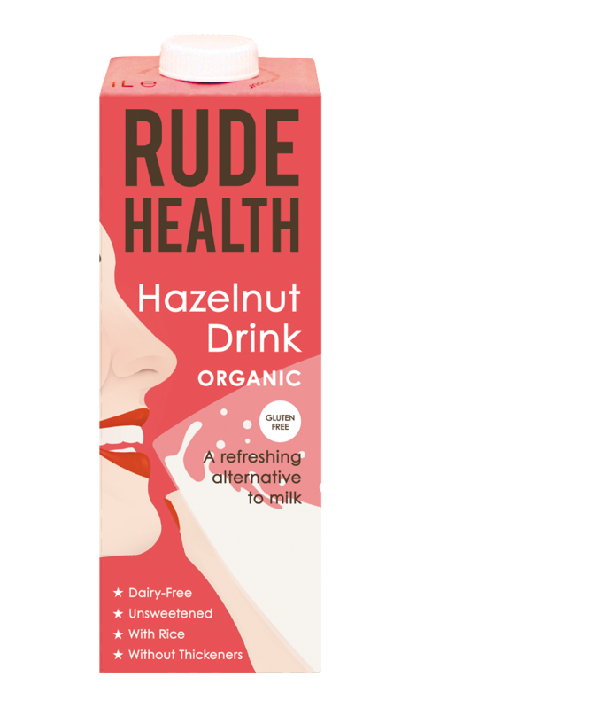 Hazelnootdrink / Hazelnut Drink BIO 1ltr. Rude Health