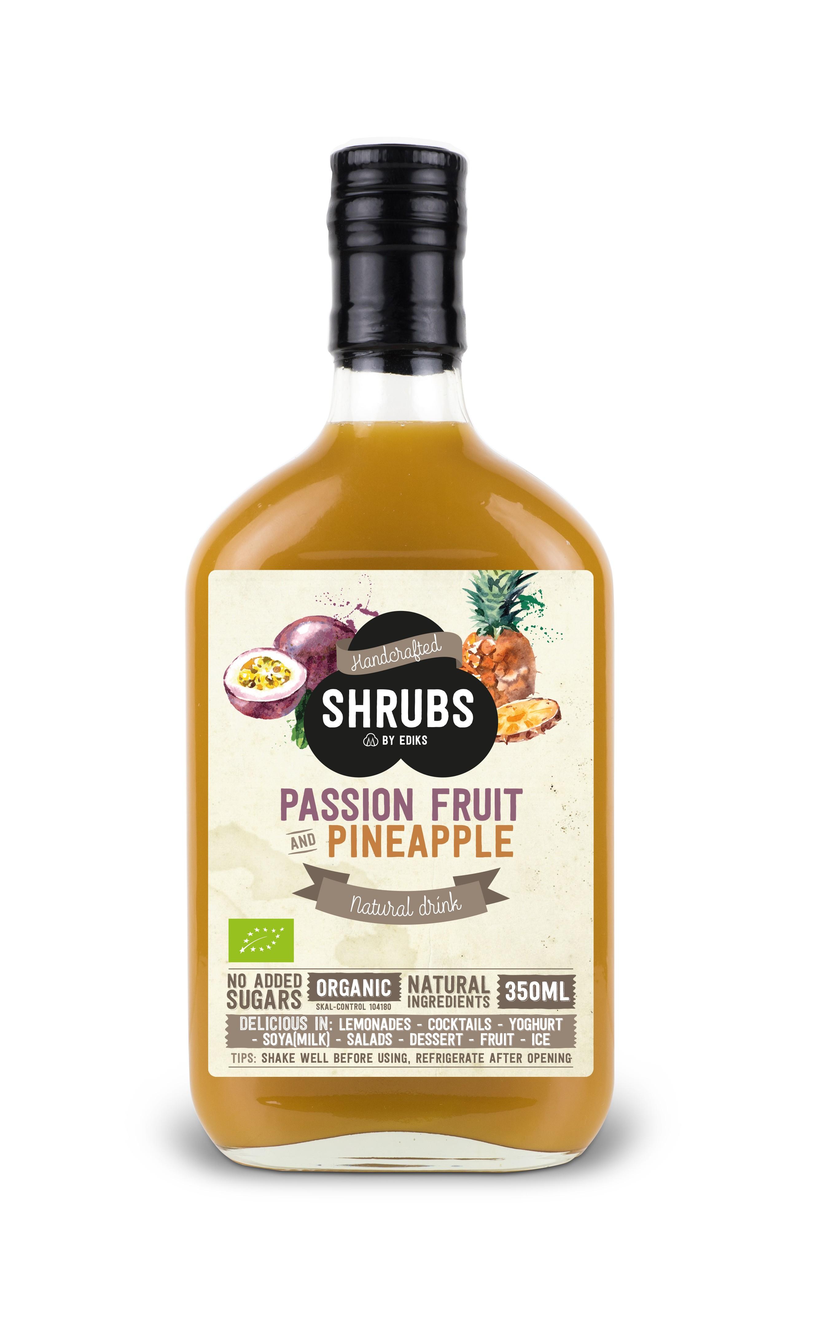 Shrubs passiefruit ananas 350 ml