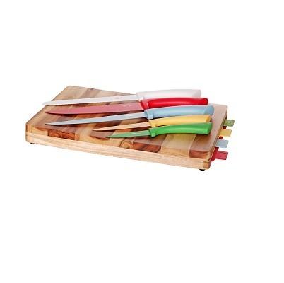 Snijplank met 4 snijmatten en 5 messen. Cosy&Trendy
