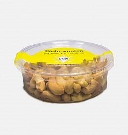 Sun organic Cashewnoten geroosterd&gezouten bakje 125 gr