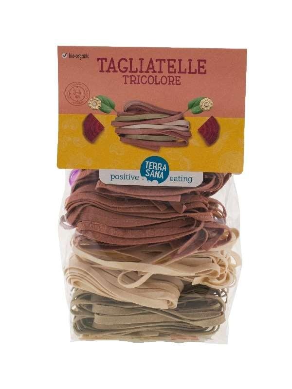 Pasta Tagliatelle Tricolore 250gr. TerraSana